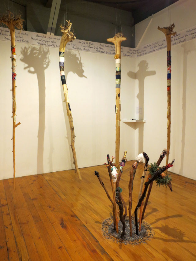 artist sally thurlow wander in the elements show at read head gallery richmond street toronto