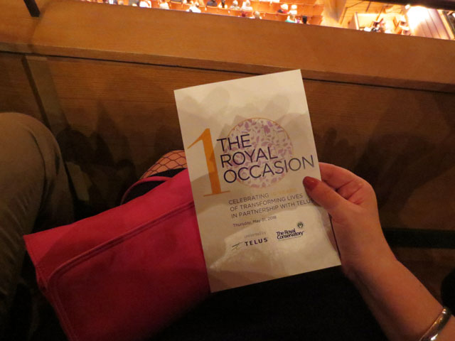at seat royal occasion royal conservatory of music presented by telus