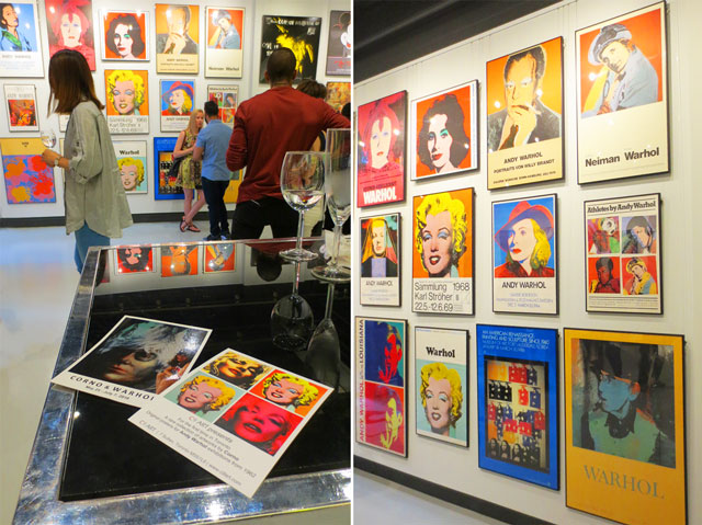 collection of original vintage posters for andy warhol shows at c9 gallery toronto yorkville free show