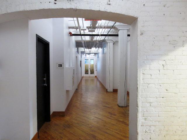 hallway in historic building toronto richmond street near spadina public access