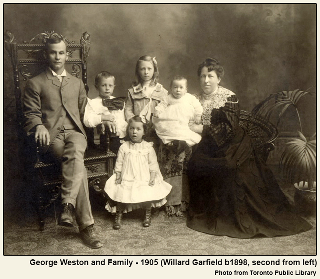 historic photograph george weston and family 1905