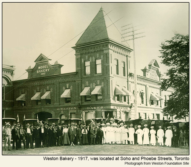 historic photograph toronto 1917 weston bakery was at soho and phoebe streets
