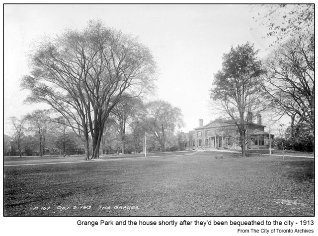 historic photograph toronto grange park and house 1913