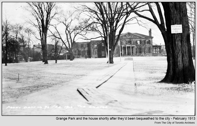 historic photograph toronto grange park and mansion 1913