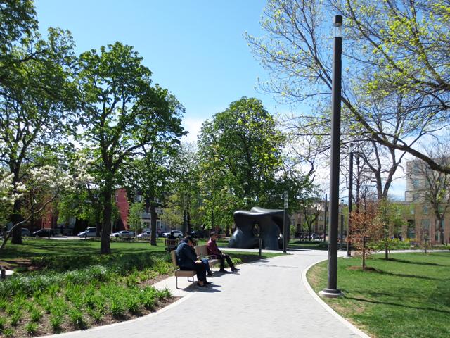 in grange park after revitilization looking north east street is beverley