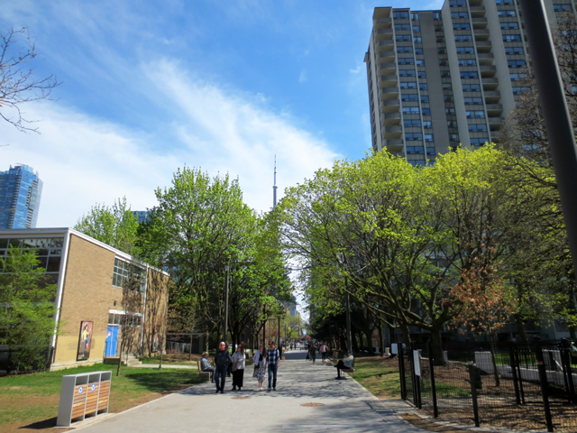 looking south from grange park toronto