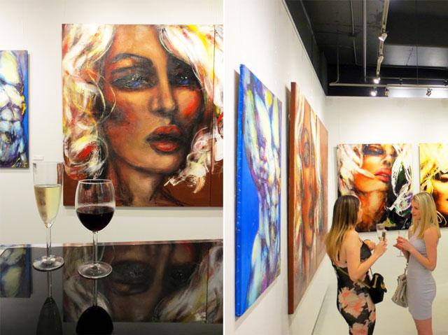 paintings by corno at c9 art gallery yorkville toronto