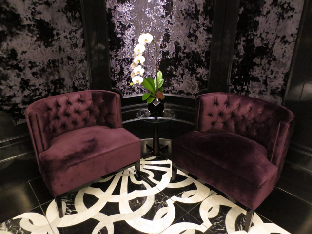 seating in the lobby at bisha hotel toronto