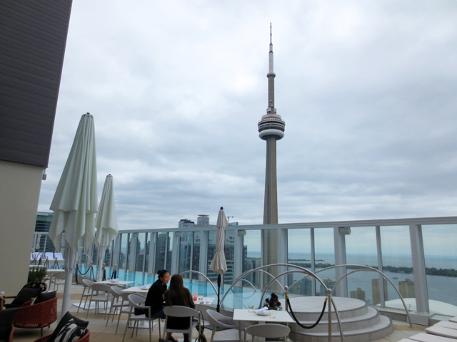 view from roof of bisha hotel toronto blue jays way peter and king