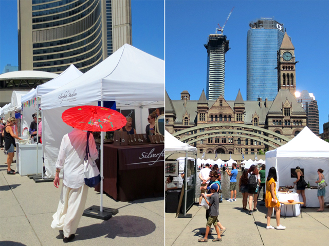 at annual outdoor art fair toronto nathan phillips square