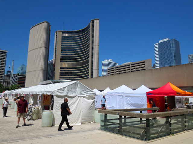 at toronto outdoor art fair nathan phillips square city hall