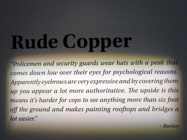 banksy rude copper quote