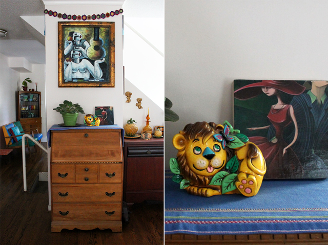 decorating with thrift store pieces