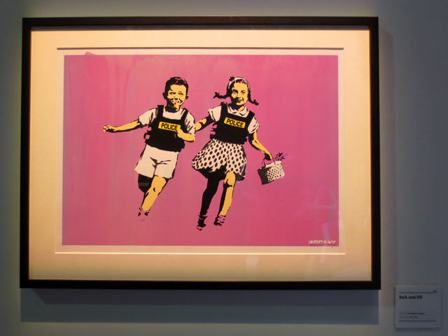 jack and jill print by bansky displayed in toronto exhibition summer 2018