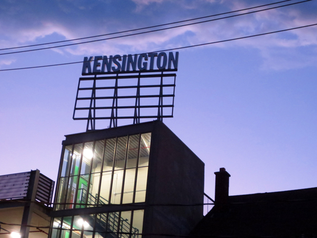 kensington market sign toronto at night