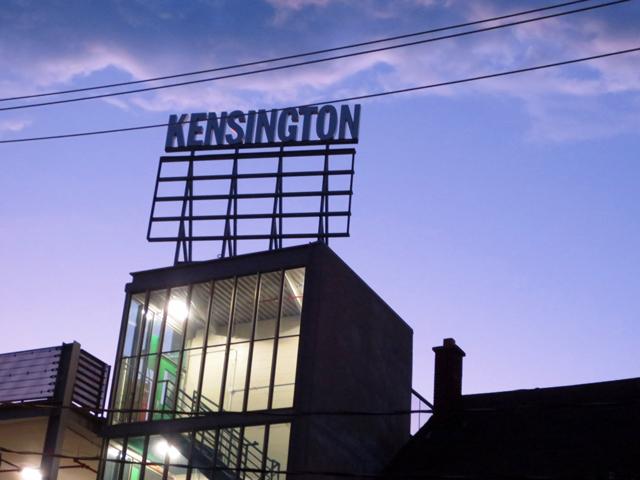 kensington market sign toronto at night
