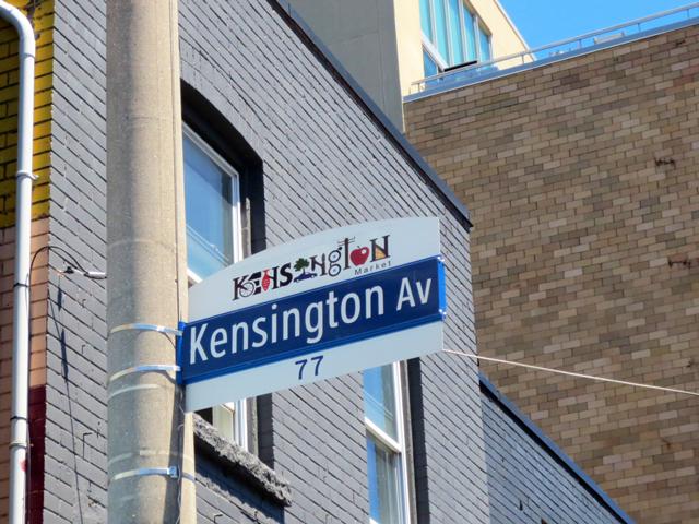 kensington market street sign toronto