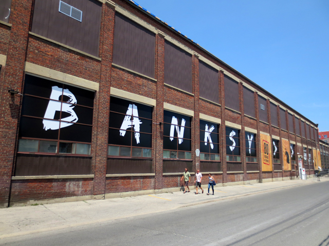 old warehouse building in the junction neighbourhood of toronto where banksy art show was held