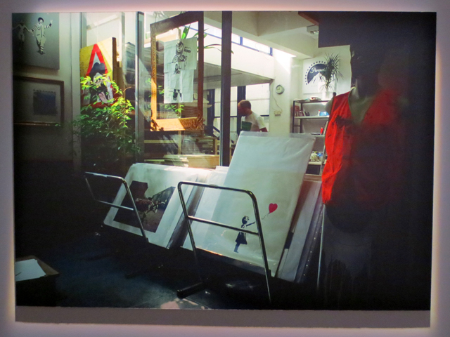 photograph of old print shop that sold banksy original prints in early 2000s