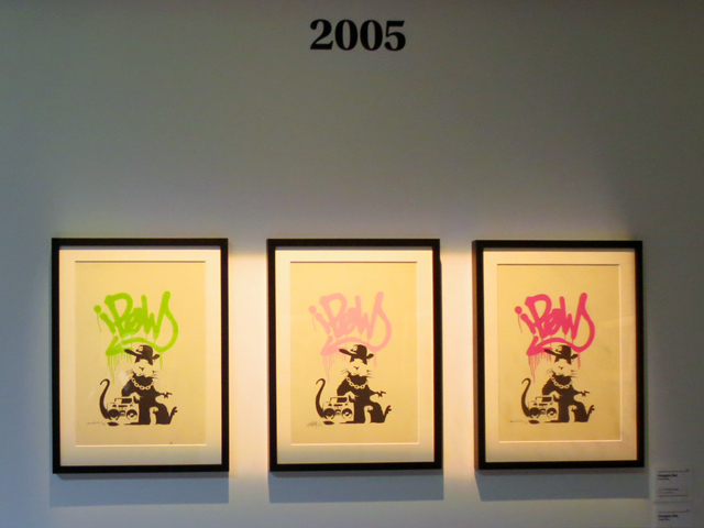 rat prints by banksy on display in toronto
