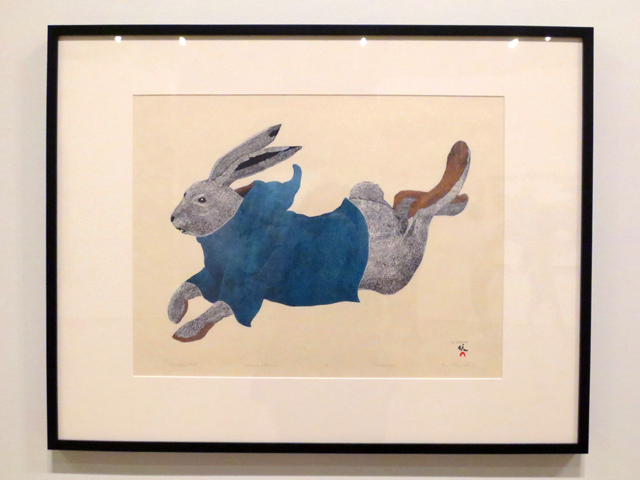 drawing by Tim Pitsiulak on display at ago inuit art exhibition