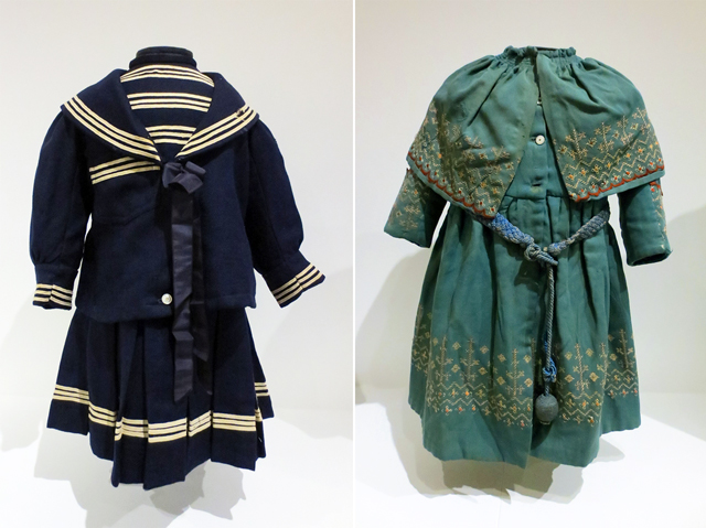 early childrens clothing in canada on display at textile museum in toronto
