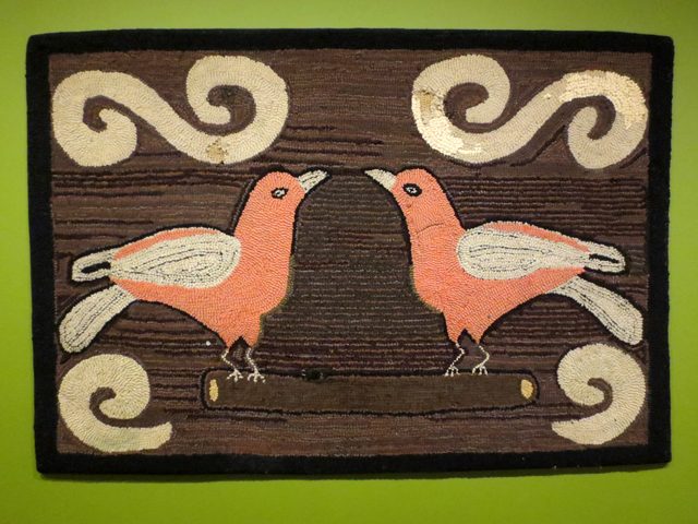 hooked rug early to mid 1900s on display at textile museum of canada in toronto