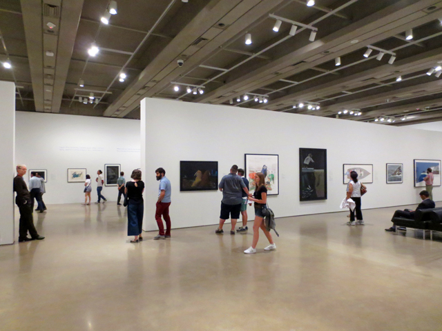 inuit art exhibition at ago toronto featuring drawings by Tim Pitsiulak