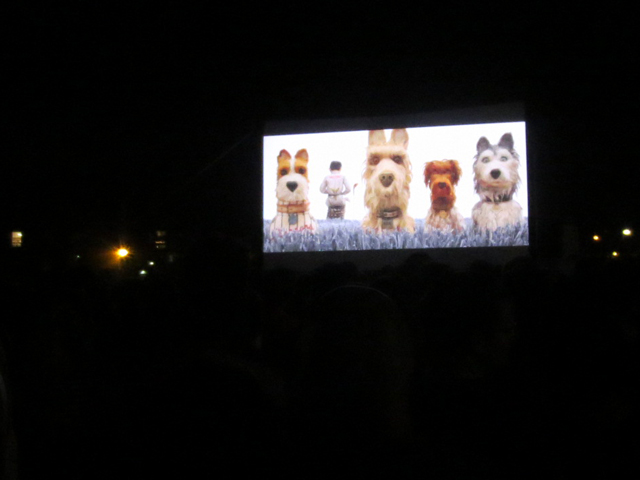 outdoor film festival toronto open roof screening wes andersons isle of dogs