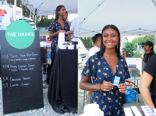 the drake catering food stand at open roof festival toronto