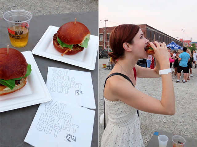 the drake food and amsterdam beer at the open roof festival toronto