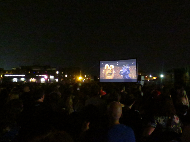 watching movie isle of dogs at open roof festival toronto 2018