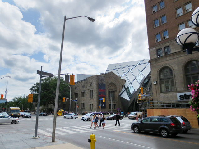 avenue road and bloor street toronto as seen from north eastern corner