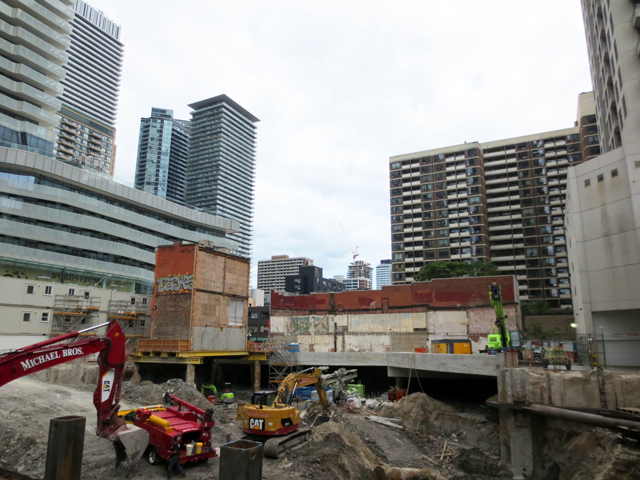 construction site for what will be the tallest residential building in canada one bloor street west toronto