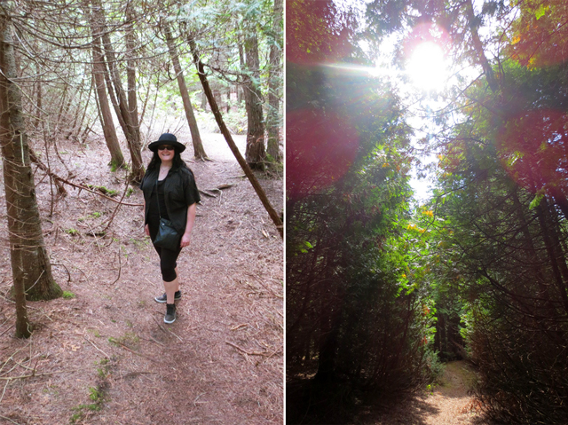 hike in nature reserve