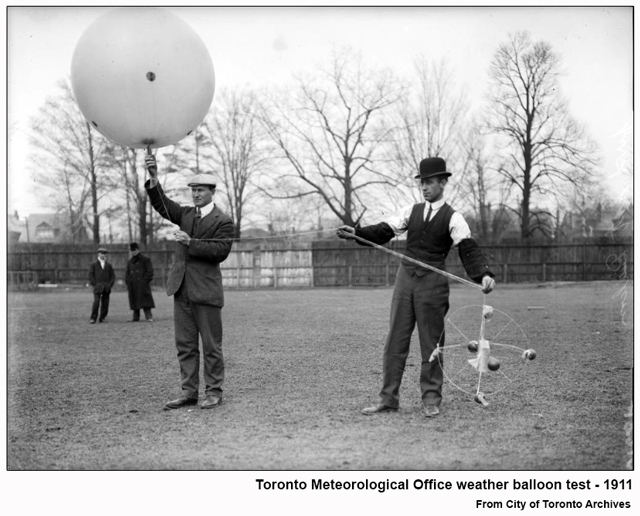 historic photograph toronto weather balloon test 1911