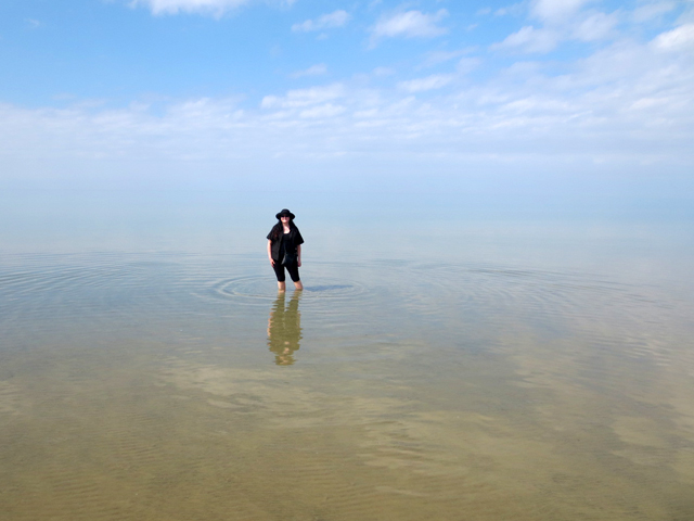 me in the water