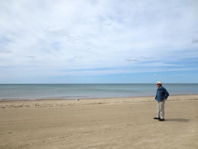 nick on the beach