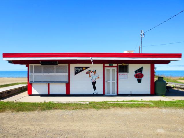 old beachside restaurant sauble beach ontario lake huron north side