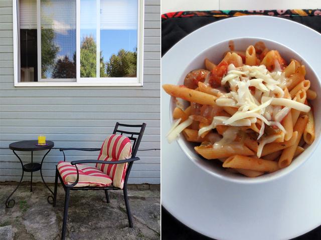 patio and pasta