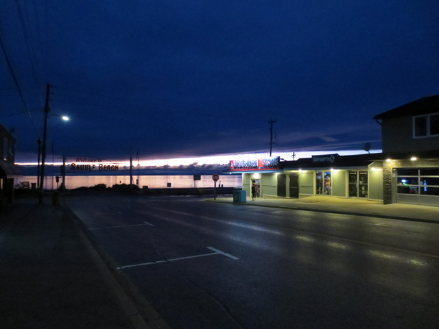 sauble beach main street at night