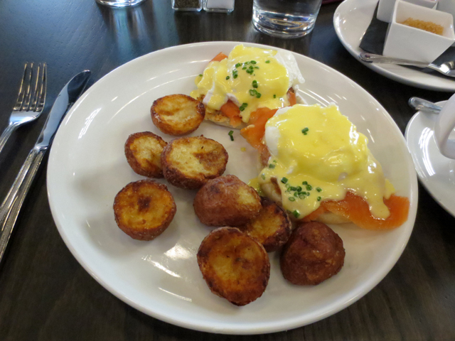 smoked salmon eggs benedict brunch at fortunate fox bloor street west toronto annex