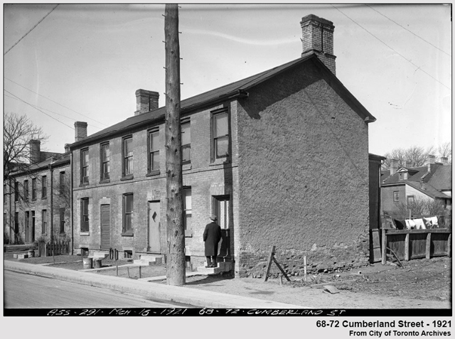 toronto historic photograph homes on cumberland street yorkville in 1921