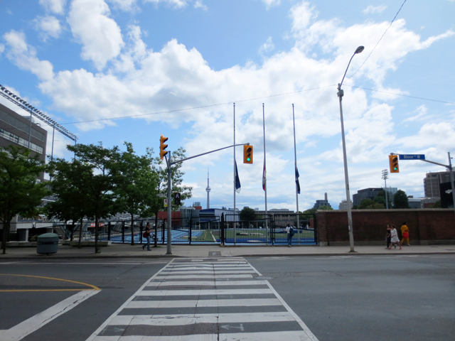varsity stadium university of toronto looking south from bloor street west