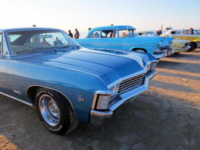 vintage classic cars on the beach sauble ontario