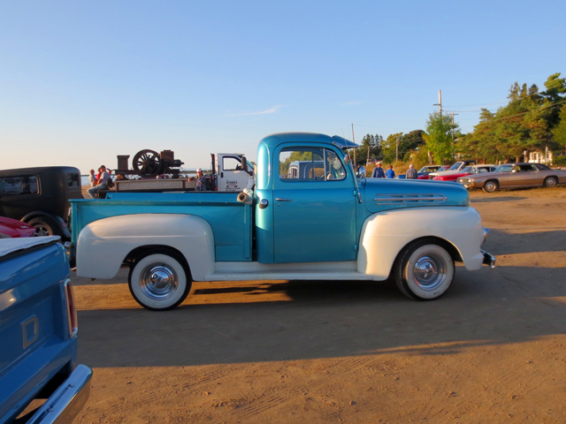 vintage truck in car show at sauble beach ontario