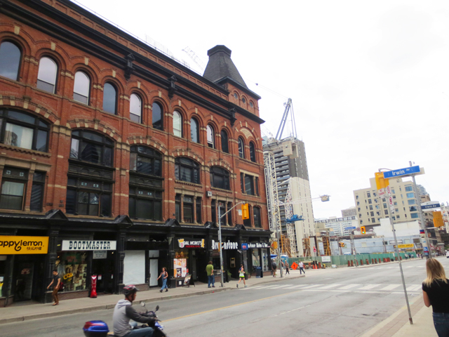 yonge street looking towards gloucester new construction condo