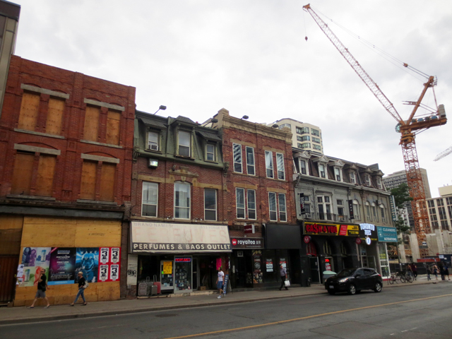 yonge street south of bloor period of transition toronto
