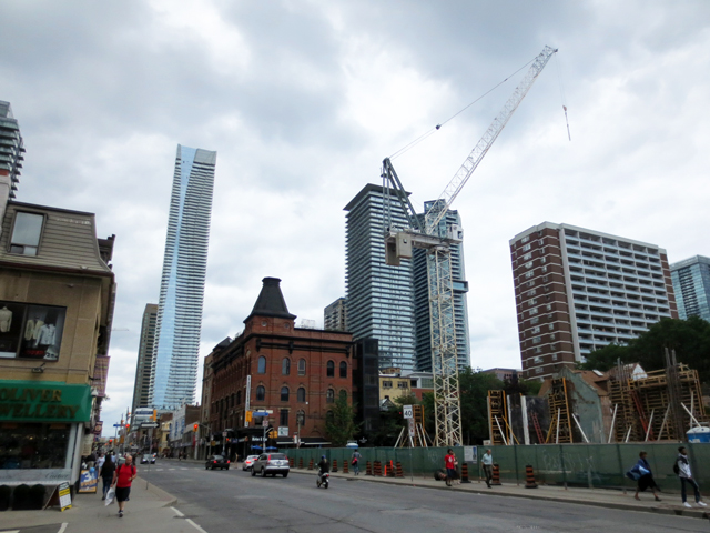 yonge street toronto south of bloor period of transitio