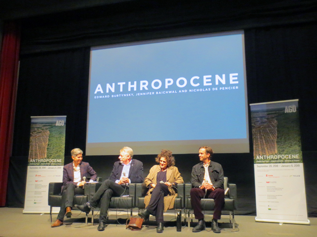 AGO curator of photography sophie hacket speaks to Edward Burtynsky Jennifer Baichwal Nicholas de Pencier creators of Anthropocene